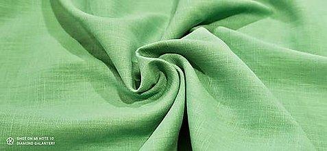 Textil - Ľan  (Zelená) - 13433374_