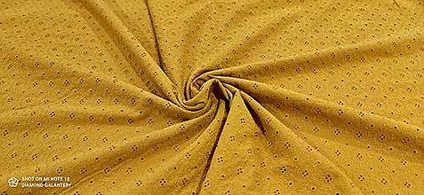 Textil - Madeira - cena za 10 centimetrov (Horčicová) - 13433591_