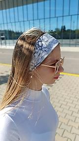 Ozdoby do vlasov - Látková čelenka Selena/Marianna - 13433944_