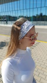 Ozdoby do vlasov - Látková čelenka Selena/Marianna - 13433946_