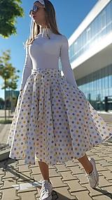 Sukne - Kruhová sukňa Sasha s vreckami a opaskom - 13435362_