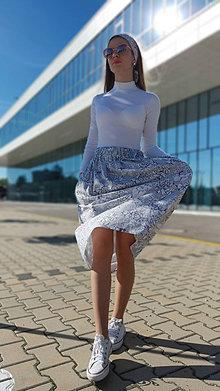 Sukne - Riasená sukňa Selena s vreckami - 13433902_