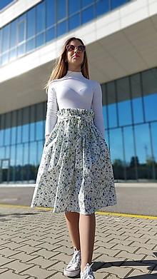 Sukne - Riasená sukňa Carolina s vreckami a opaskom - 13434975_
