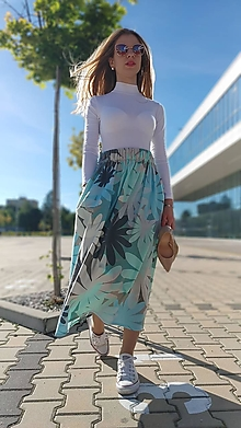 Sukne - Riasená sukňa Salome s vreckami - 13435130_