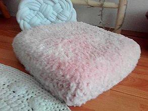 Úžitkový textil - POUDRE pink - sedací vankúš, podsedák - 13433337_