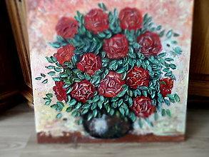 Obrazy - Kytica ruží - 13435056_