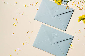 Papiernictvo - Embosované obálky - 13435426_