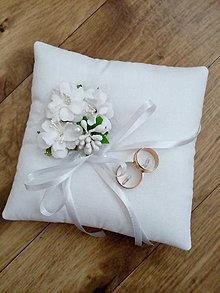 Prstene - Svadobný vankúšik pod obrúčky 11 - 13435684_