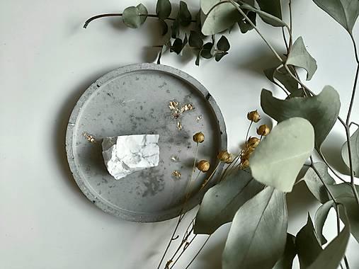 Betónová miska/podšálka - kruh