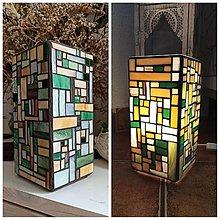 Svietidlá a sviečky - Mozaiková lampa...Farby Lesa - 13438420_