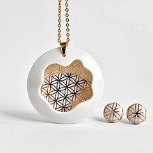 Sady šperkov - Porcelánový náhrdelník + náušnice Introvert no.42 - 13437631_