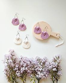 Náušnice - Macramé náušnice Ruža (Lilac) - 13438201_