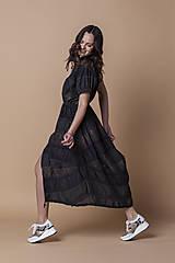Šaty - Čierne plášťové šaty  DEBORAH - 13436452_
