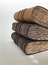 Papiernictvo - Starobylý kožený zápisník - A6 - 13437583_