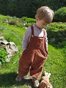 Detské oblečenie - Detské pudlové nohavice na traky - 13436271_