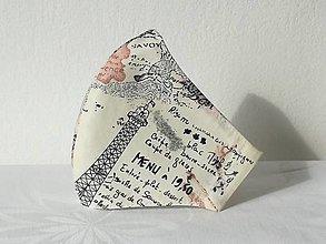 Rúška - Ochranné rúško Paris ,skladom - 13441980_