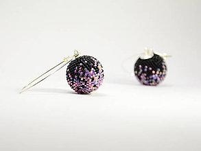 Náušnice - Háčkované korálkové náušnice Passionflower - 13441799_