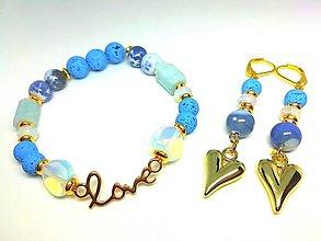"""Sady šperkov - """"Zamilovaná"""" súprava šperkov modrá - 13440771_"""