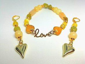 """Sady šperkov - """"Zamilovaná"""" súprava šperkov žltá - 13441226_"""