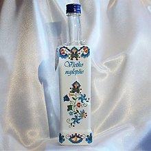 Nádoby - Ľudová fľaša Všetko najlepšie - 13439479_