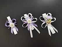 Pierka - Fialové svadobné pierka - 13441211_