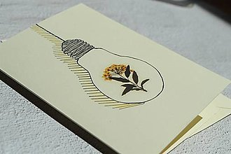 Papiernictvo - Pohľadnica - Flowers in a light bulb - 13440913_