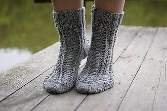 Obuv - nízke šedé ponožky osmičkové ( v. 38-39) - 13441390_
