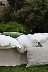 Úžitkový textil - Ľanové obliečky Martina - 13441832_