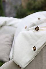 Úžitkový textil - Ľanové obliečky Martina - 13441833_