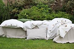 Úžitkový textil - Ľanové obliečky Martina - 13441835_