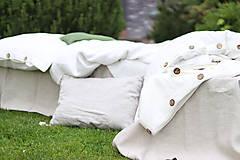Úžitkový textil - Ľanové obliečky Martina - 13441836_