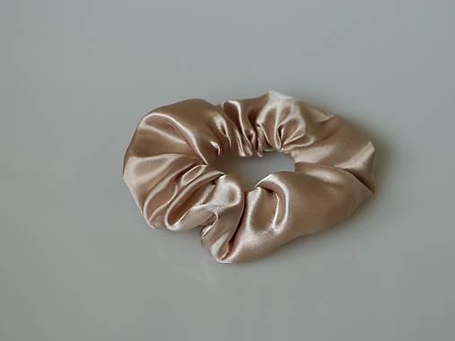 Scrunchies gumička saténová (béžová)