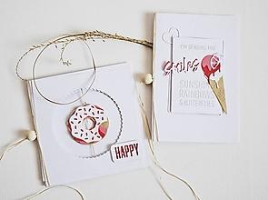 Papiernictvo - Gratulačný pozdrav - donut/zmrzlina - 13444398_