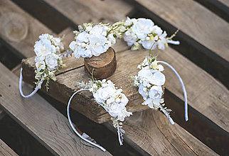 Detské doplnky - Detská kvetinová čelenka na 1. sväté prijímanie - 13445299_