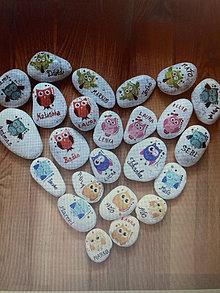 Dekorácie - Kamene s menami - 13444874_