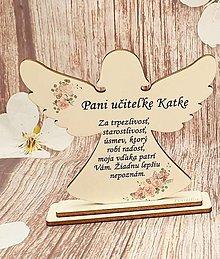 Dekorácie - Anjelik pre pani učiteľku / pána učiteľa - 13443850_