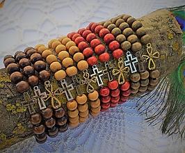 Náramky - Drevený náramok s krížikom - vyber si - 13443680_