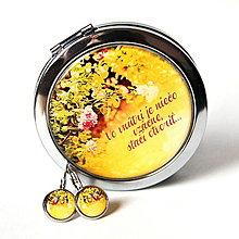 Zrkadielka - zrkadielko a náušnice Ruže - 13445149_
