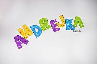 Detské doplnky - písmenká na želanie vzor Andrejka - 13446605_