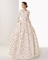 "Šaty - FLORAL FOLK "" Romantic Flower "", spoločenské dlhé šaty (dlhé šaty) - 13447606_"