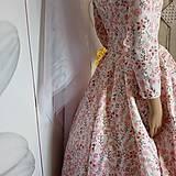 "Šaty - FLORAL FOLK "" Romantic Flower "", spoločenské dlhé šaty (dlhé šaty) - 13447608_"