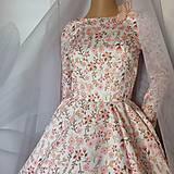 "Šaty - FLORAL FOLK "" Romantic Flower "", spoločenské dlhé šaty (dlhé šaty) - 13447609_"