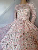 "Šaty - FLORAL FOLK "" Romantic Flower "", spoločenské dlhé šaty (dlhé šaty) - 13447611_"