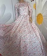 "Šaty - FLORAL FOLK "" Romantic Flower "", spoločenské dlhé šaty (dlhé šaty) - 13447615_"