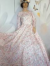 "Šaty - FLORAL FOLK "" Romantic Flower "", spoločenské dlhé šaty (dlhé šaty) - 13447616_"