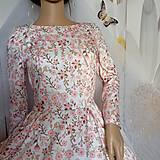 """Šaty - FLORAL FOLK """" Romantic Flower """", spoločenské dlhé šaty (midi šaty) - 13447629_"""