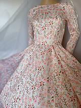 """Šaty - FLORAL FOLK """" Romantic Flower """", spoločenské dlhé šaty (midi šaty) - 13447630_"""