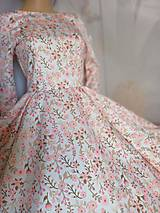 """Šaty - FLORAL FOLK """" Romantic Flower """", spoločenské dlhé šaty (midi šaty) - 13447631_"""