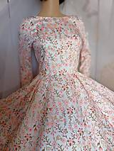 """Šaty - FLORAL FOLK """" Romantic Flower """", spoločenské dlhé šaty (midi šaty) - 13447632_"""