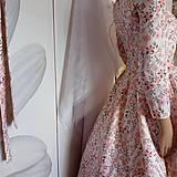 """Šaty - FLORAL FOLK """" Romantic Flower """", spoločenské dlhé šaty (midi šaty) - 13447640_"""